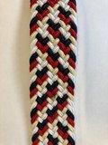 Braided Belt NR.8 - RED-BLUE-WHITE BLENDED_
