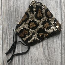 Mondkapje Paillet Leopard