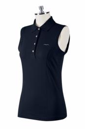 Animo Sleeveless Woman's Polo BRANDY-Color BLACK