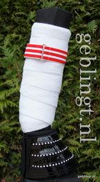 Bandage Bandjes Red & White