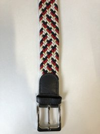 Braided Belt NR.8 - RED-BLUE-WHITE BLENDED