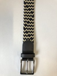 Braided Belt NR.9 BLACK - CREAM