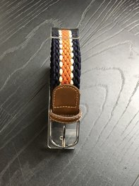 Braided Belt NR.13 NAVY - ORANGE