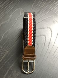 Braided Belt NR.14 NAVY - RED