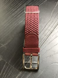 Braided Belt NR.15 BORDEAU RED
