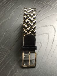Braided Belt NR.17 OLIVE GREEN - NAVY BLENDED
