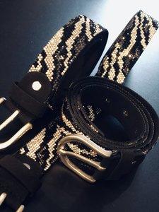 Riem Shiny Leopard - Black-Grey