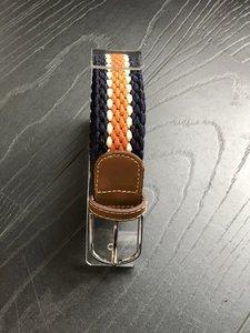 Braided Belt NR.13 NAVY - ORANGE