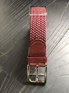 Braided Belt NR.15 BORDEAU RED