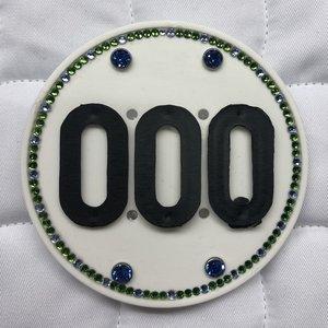 Swarovski Competition Number- Green-Lt.Blue