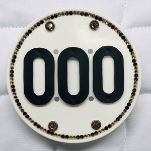 Swarovski Competition Numbers - Black-Gold